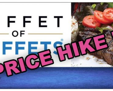 Buffet of Buffets price hike